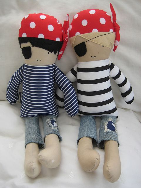 Pirate dolls by dee*construction, via Flickr