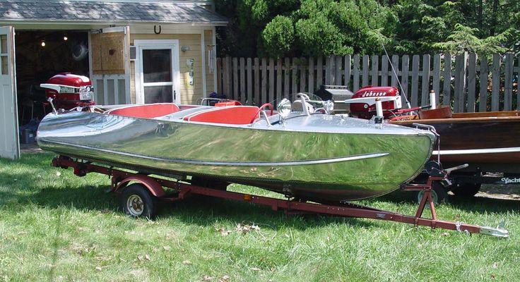 polished aluminum boat - Google Search   Vintage Boats   Pinterest   Aluminum boat