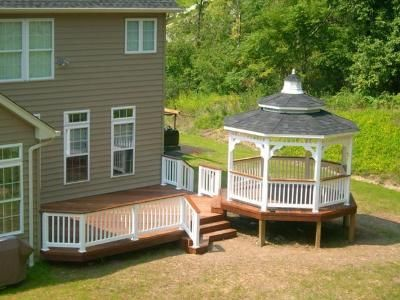 how to build a gazebo on a deck