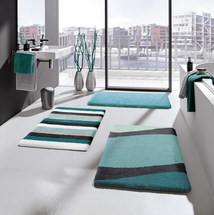 Best Large Bathroom Rugs Images On Pinterest Large Bathroom - Turquoise bathroom mats for bathroom decorating ideas