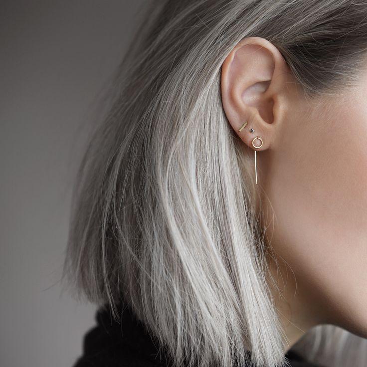 Minimal gold earrings #mydubio