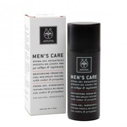 MENS CARE Moisturizing Cream-Gel with cedar & propolis. #Moisturization #Protection #Sensation of #Freshness #Regulation of #Oiliness Cream-gel that moisturizes and refreshes the skin, protects from premature ageing and regulates oiliness, while toning and rejuvenating. Read more at www.apivita.com