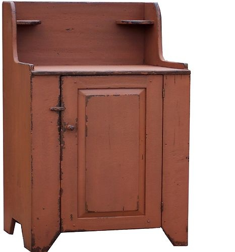 Primitive washstand vanity reproduction painted dry sink for Reproduction kitchen cabinets