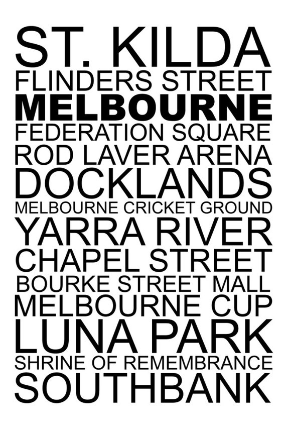 Melbourne Destination Print