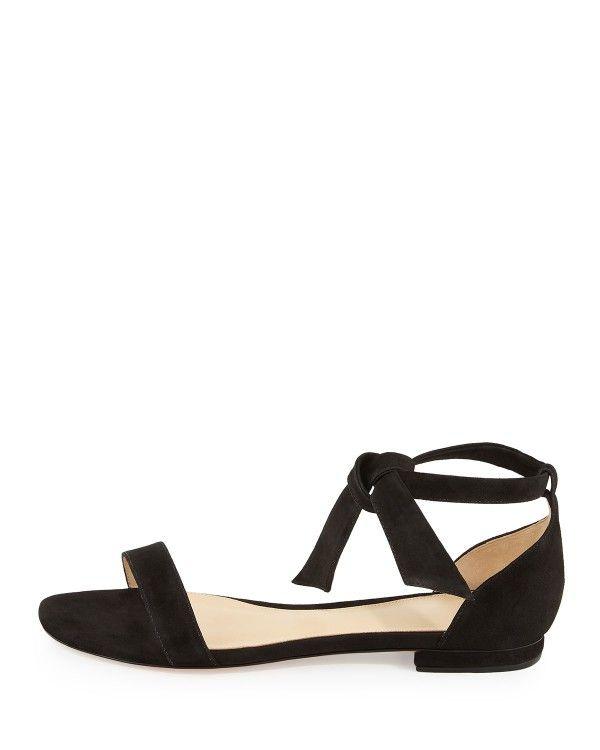 Alexandre Birman Woman Lace-up Suede Point-toe Flats Black Size 37 Alexandre Birman Y70Nba0R