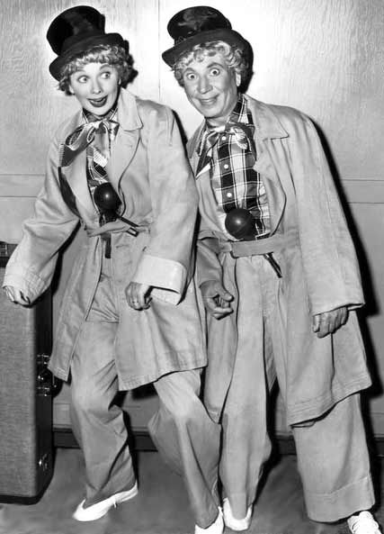 Lucille Ball and Harpo Marx.  (Loved this.)