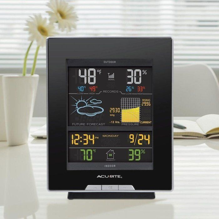 AcuRite Digital Weather Station / The AcuRite Digital Weather Station gives you an exceedingly precise weather forecast based on your location. http://thegadgetflow.com/portfolio/acurite-digital-weather-station/