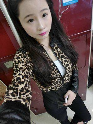 Modern Autumn Stand Collar Leopard Long Sleeve Zipper Jacket