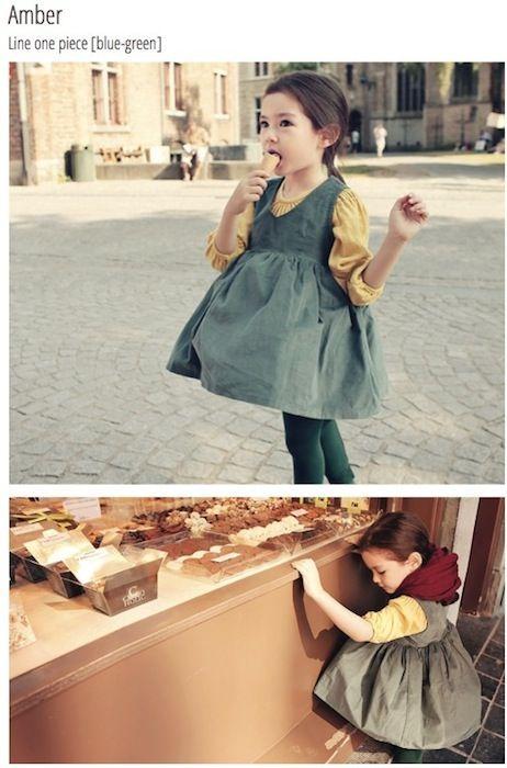 Moda infantil coreana con Mint and Persimmon http://www ...