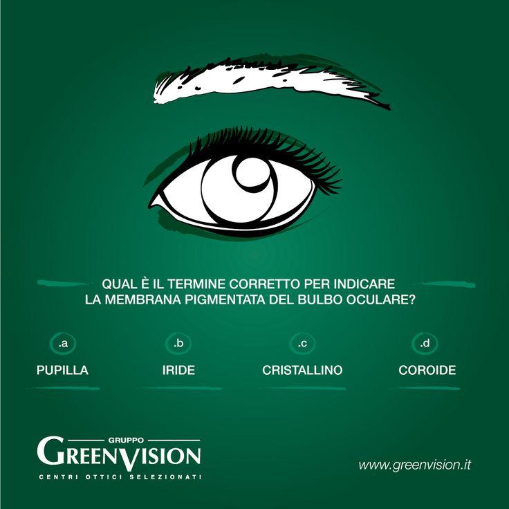 La parte dell'occhio che cambia colore ha un nome preciso. #GreenVisionQuiz
