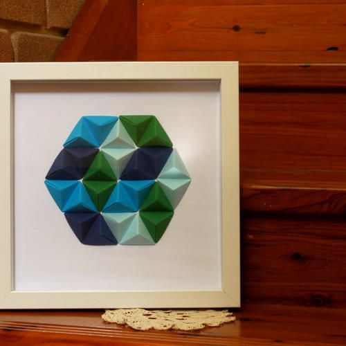 Geometric Wall Art -  'Sea'