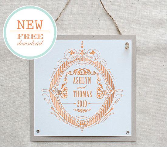 Free printable Formal Crest Do It Yourself Custom Monogram