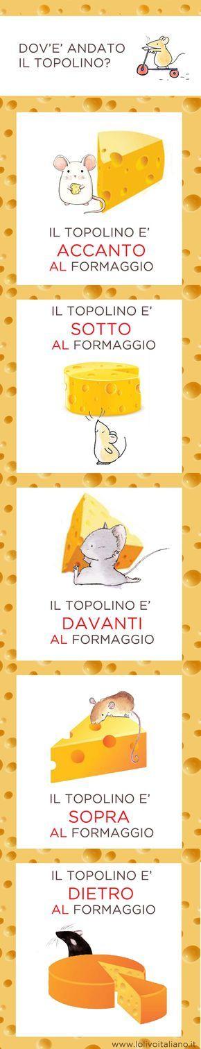 Learning Italian Language ~ Dov'è andato il topolino? Scopriamo insieme come si esprime in italiano la posizione!