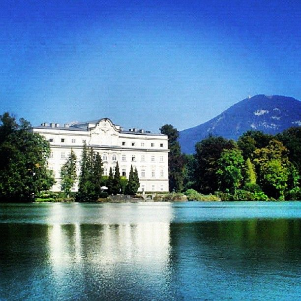 Von Trapp's House, Salzburg Austria, Sound of Music. I love the reflection on the water! :-)