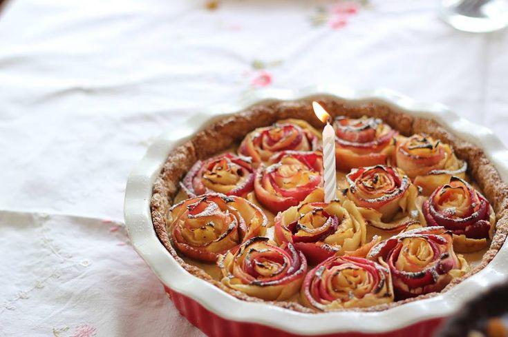 Maya's Apple Rose Tart (Dairy, Gluten & Refined Sugar Free)