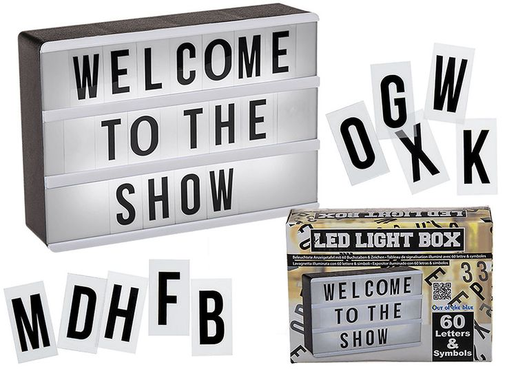 Light Box Illuminated Display Board With 60 Letters & Symbols Wedding Party   | eBay