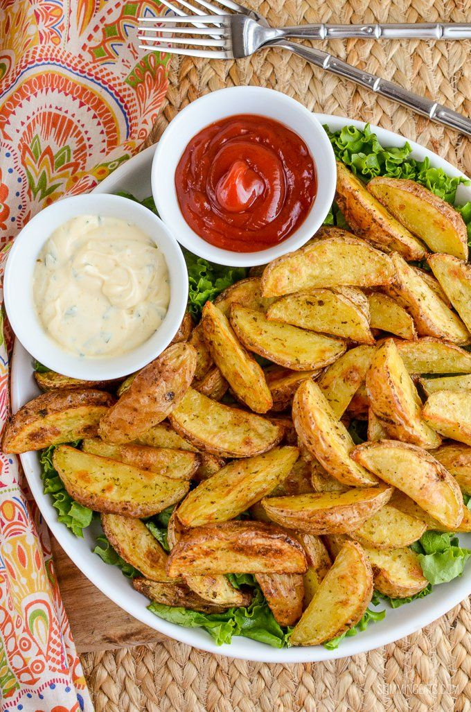 Tuck into some tasty Syn Free Garlic and Herb Potato Wedges, a perfect side dish to complete any main meal and without the guilt too.