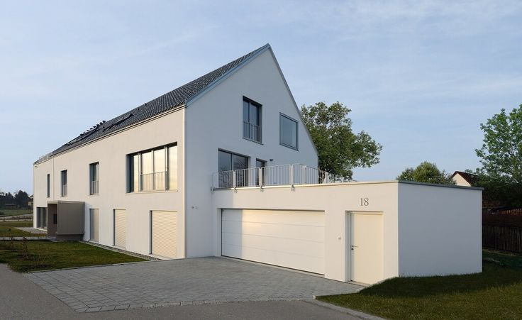 Doppelgarage satteldach modern  Mehrfamilienhaus Schindele_Baufritz_Garage.jpg | space [ ] raum ...