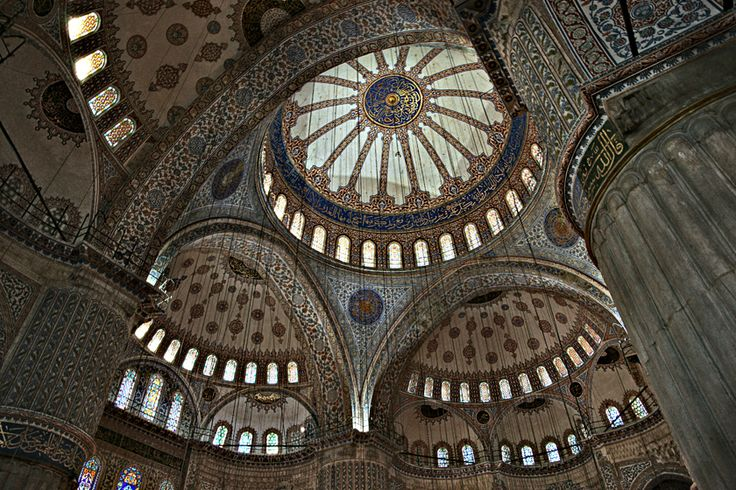 Inside the Blue Mosque Istanbul, Turkey 2012