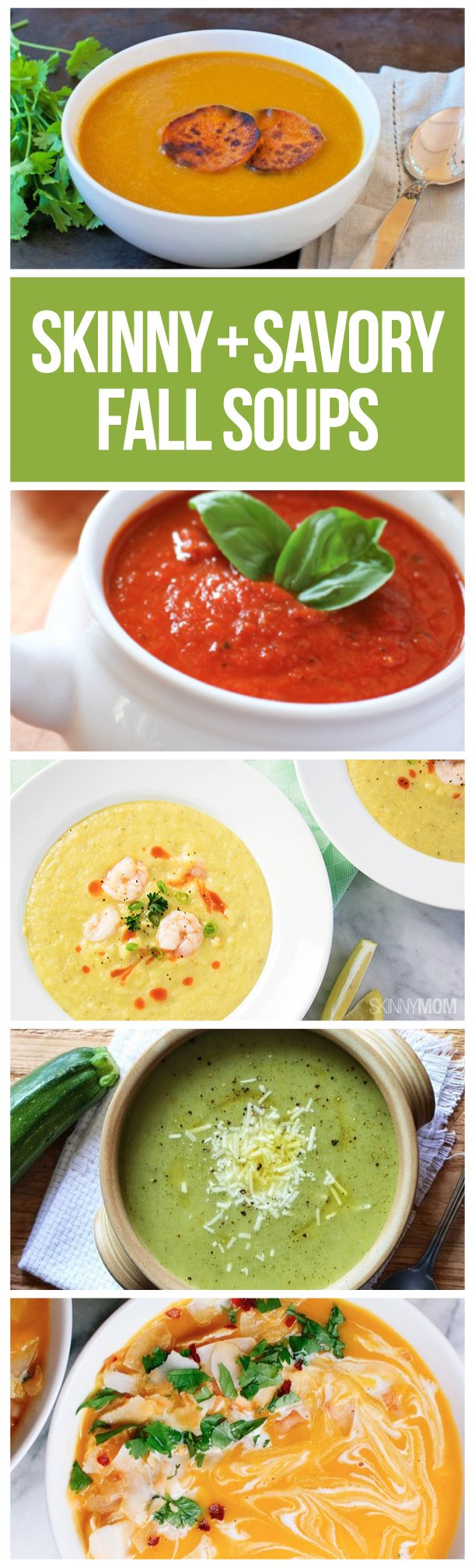 Healthy and savory soups for busy weeknights.