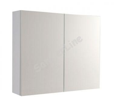 Aqualine VEGA tükrös szekrény, 80x70x18 cm, fehér, VG080