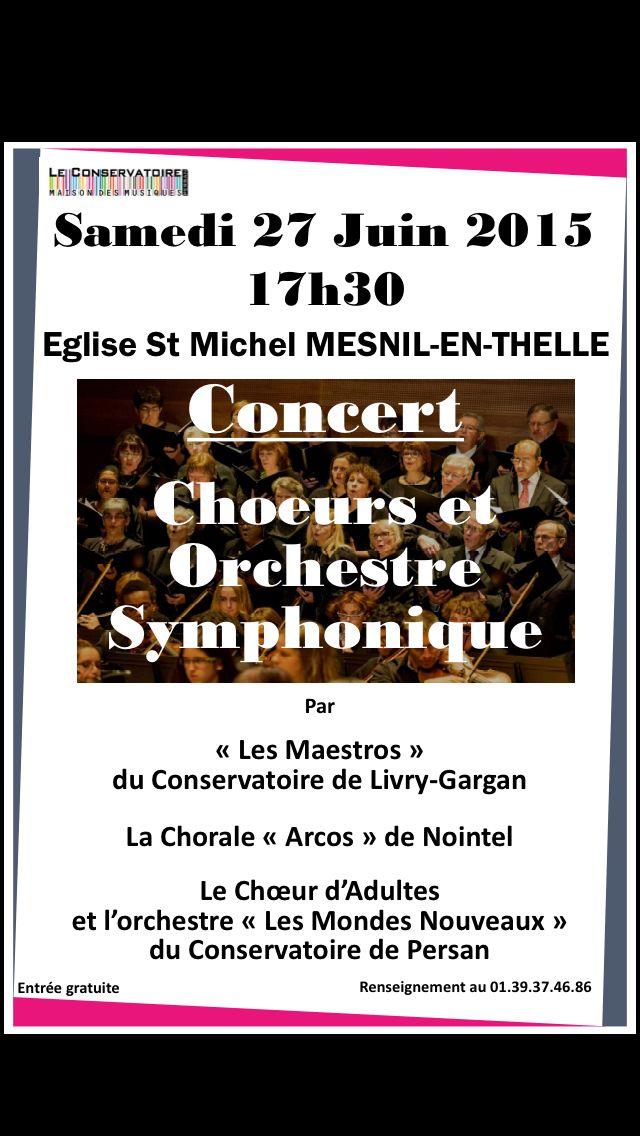 Concert reprise de Livry Gargan au Mes'il en Thelle.