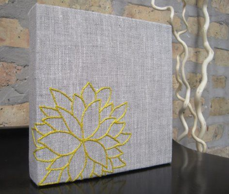 possible DIY artworkLiving Room, Diy Artwork, Covers Canvas, Embroidered Canvas