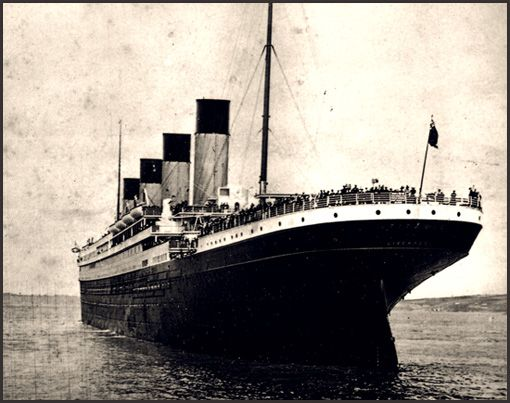 The RMS Titanic at sea