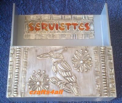 """ Serviette Box "" Painted & Metal Embossing. Awesome Project to do in an Afternoon..."