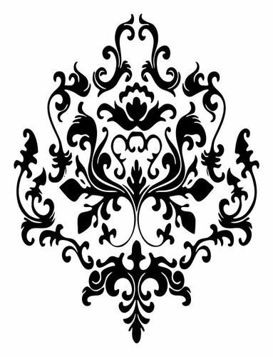 17 best ideas about baroque pattern on pinterest - Stickers baroque pour meuble ...