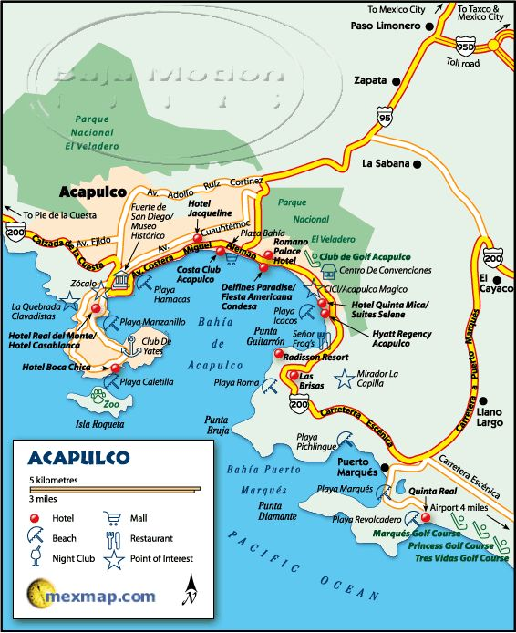 Acapulco Mexico Maps