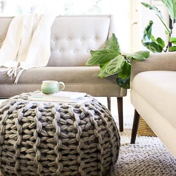 This kit includes all you need to make a fabulous, chunky floor pouf ottoman, including :: 492 yards of gorgeous Cascade Magnum Super Bulky Yarn :: PDF pattern to make pouf with tutorial for required