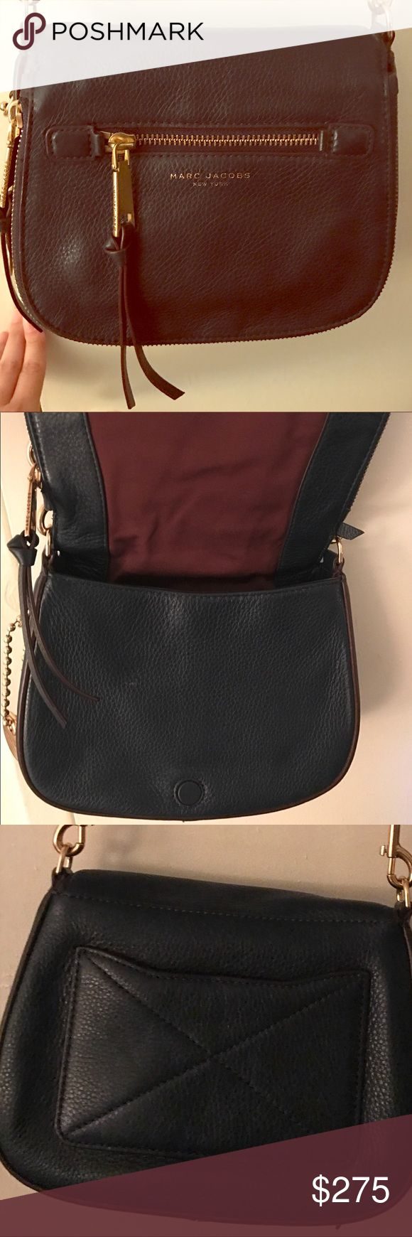 Marc Jacobs Recruit small saddle bag. Navy, Fairly used saddle bag. In great condition. Looking to give someone a great deal on a great bag! Marc Jacobs Bags Crossbody Bags