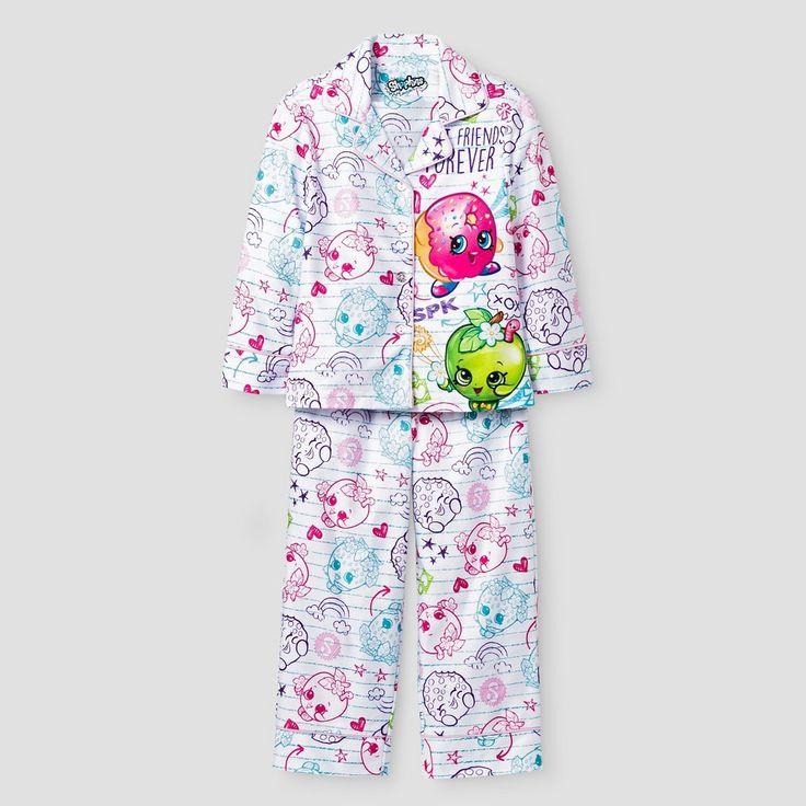 Girls Shopkins Pajama Set - Multi-Colored 6-6x, Girl's, Size: 6/6X, Multicolored