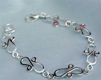 Sterling Silver Bow Tie Bracelet