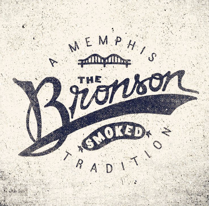 Very cool vintage logo design - The Bronson by Adam Trageser