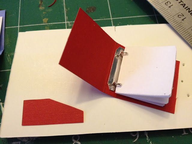 Miniature binder how-to.
