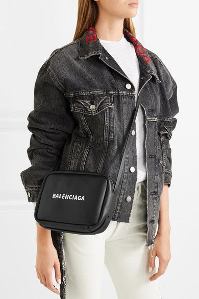 0a0dd4fbbfb0 Balenciaga | Everyday printed textured-leather camera bag | NET-A-PORTER.COM