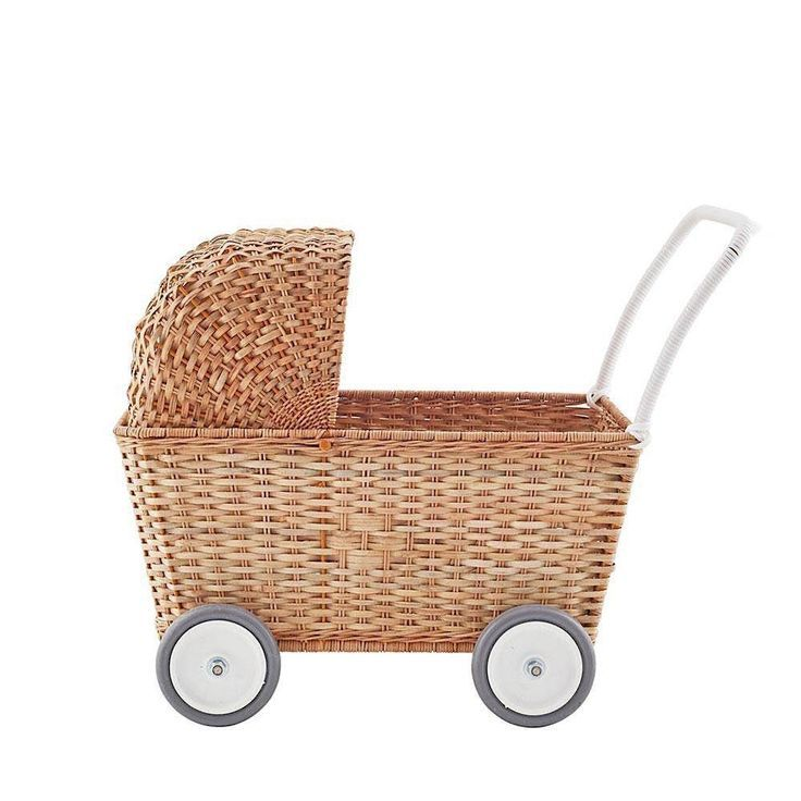 """18/"""" doll wicker woven basket storage tray dsiplay f Our Generation American Girl"""
