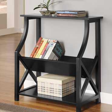 Open book case: X Sided Bookcase, Ideas, Bookcases, Sweet, House, Black Bookcase, Furniture, Black X Sided, Room