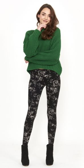 Dahlia Jumper - Forest Green - Chunky Knit - keeping cosy!