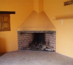 Como construir una chimenea de obra llar de foc pinterest for Como hacer una cocina