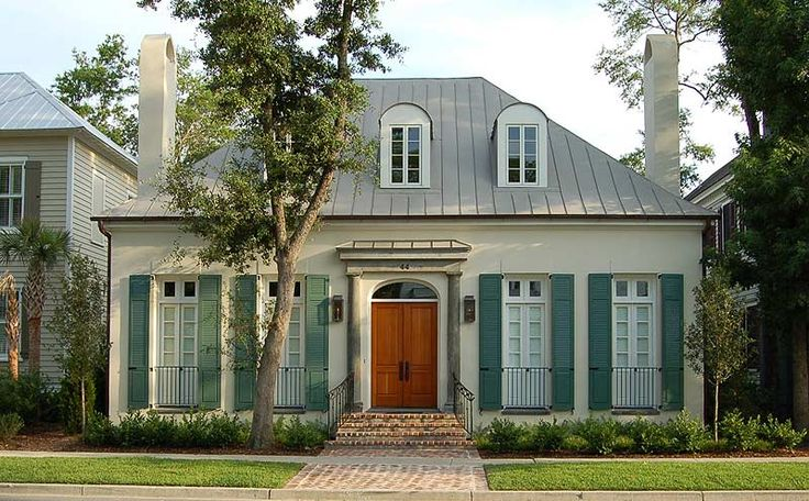 The street façade is inspired by the French colonial houses of the Caribbean.