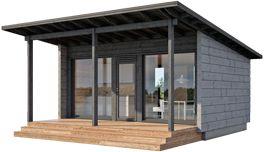 Glass House pulpettikatto + katettu terassi