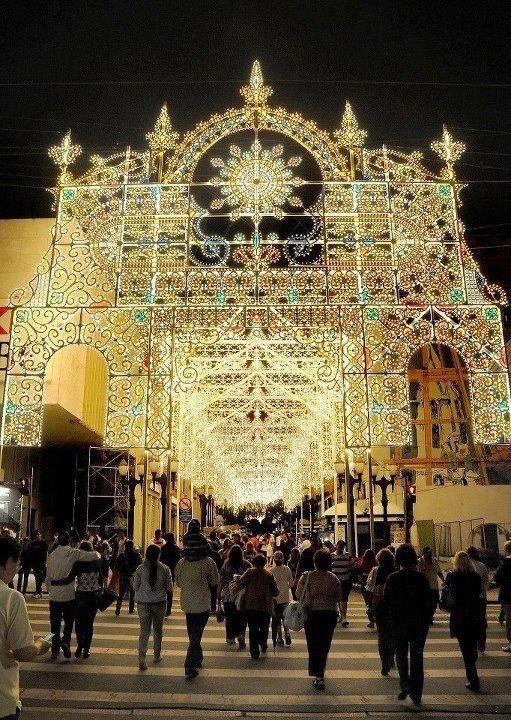Decoracao de Natal na Rua XV de Novembro