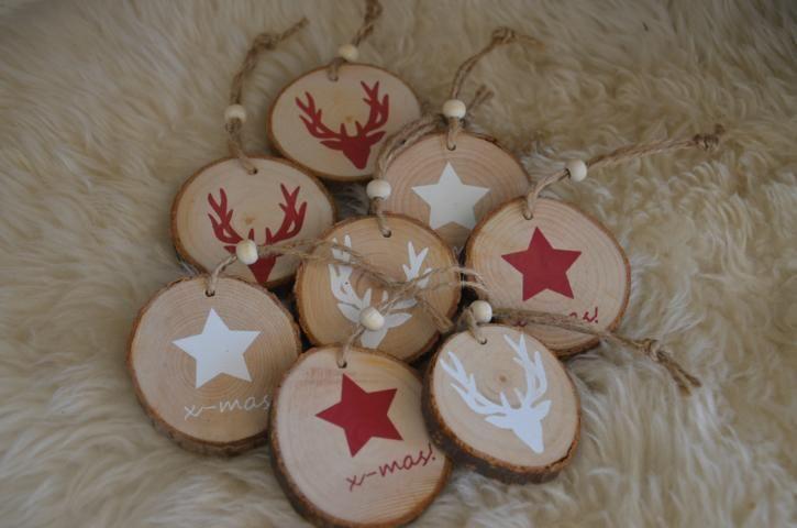 Set  8 x  Baumschmuck Sterne Holz von Majalino auf DaWanda.com
