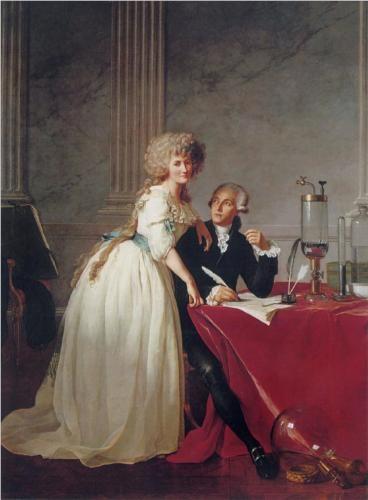 Jacques-Louis David - Portrait of Antoine-Laurent and Marie-Anne Lavoisier [1788]