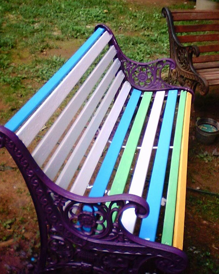 17 Best Ideas About Painted Outdoor Furniture On Pinterest Painted Patio Table Painted Patio