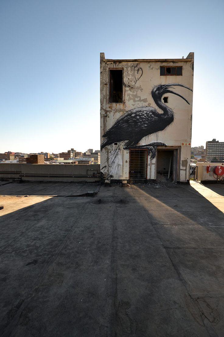 Jozi 'airbrush' graffiti / Настенное творчество Йоханнесбурга