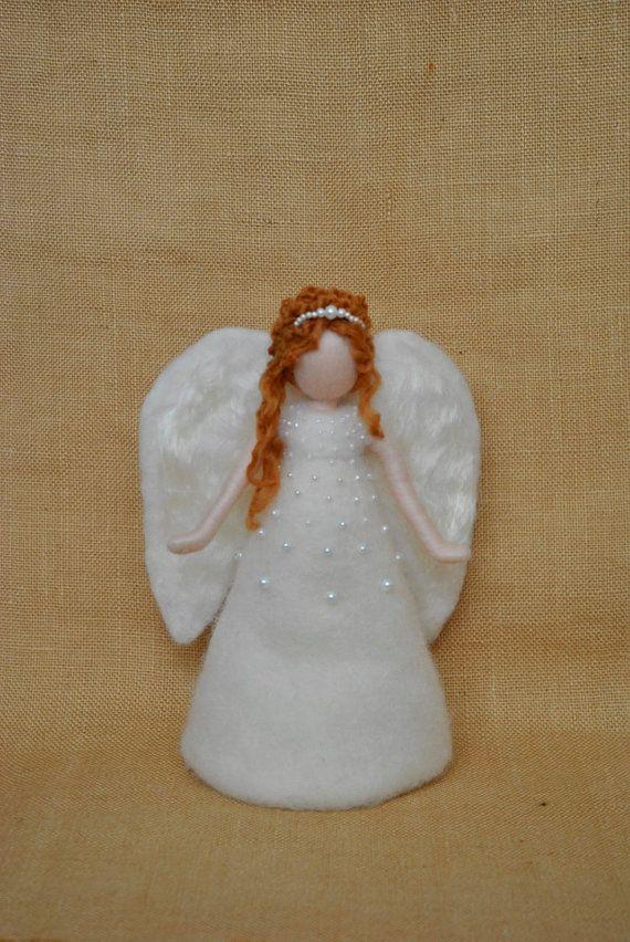 Listo para enviar Navidad Angel Tree Topper Waldorf por MagicWool
